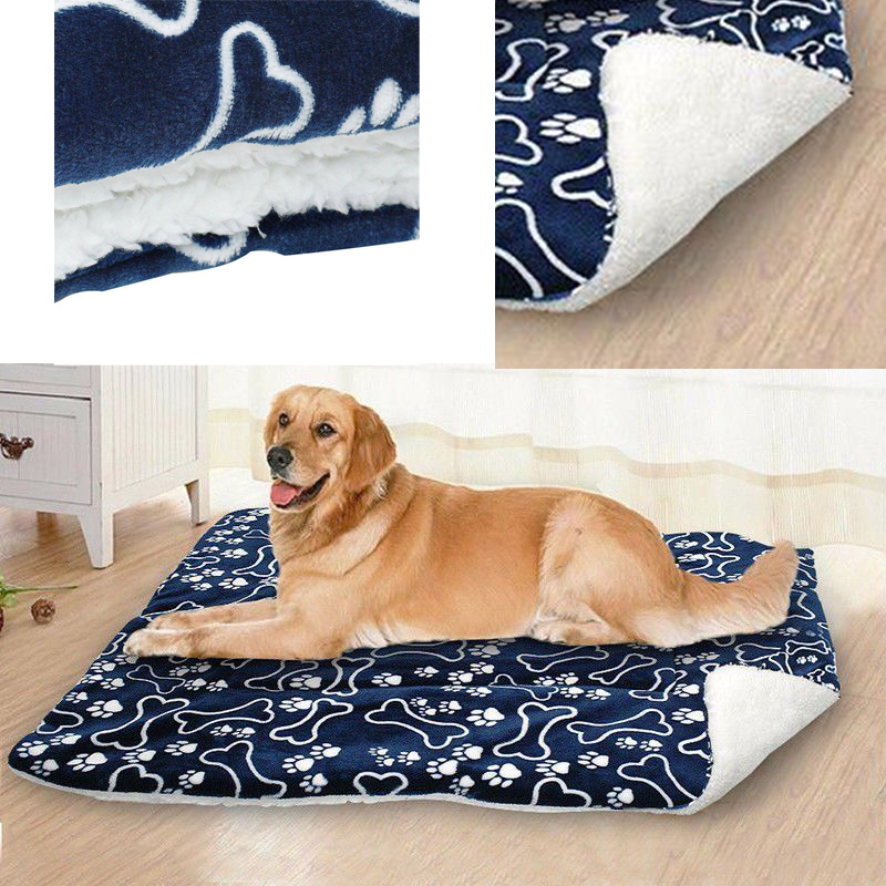 Hot Pet Bed Soft Dog Cat Pet Winter Warm Mats Fur Bed Pad Self Heat Rug Thermal Washable Pillow Mat Slipcover