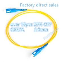 Câble de correction de Fiber de FirstFiber 30 m SC UPC à SC UPC G657A, cavalier, corde de correction recto 2.0mm
