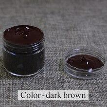 Темно-коричневый крем для восстановления ухода используется для покраски кожаного дивана, сумок, обуви и одежды и т. д. с хорошим эффектом 30 мл