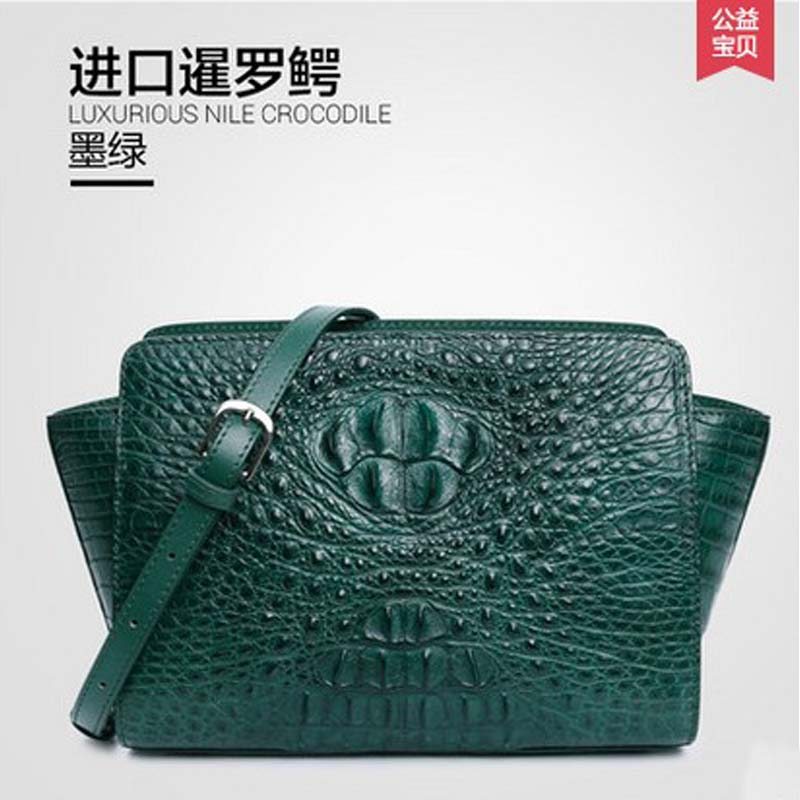 New gete women crocodile handbag euramerican fashion leather bag single shoulder bag women wingsbag inclined shoulder bag