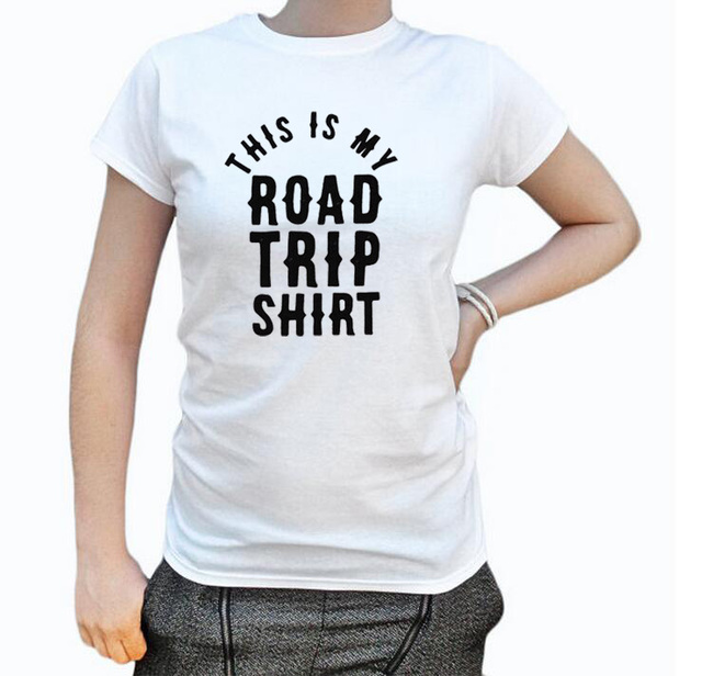 fd7f8b75 this is my road trip shirt Tshirt Fashion funny slogan women summer beach  party fashion letters graphic tee shirt