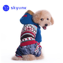 Dog Costume Snowflake Design Coat Fashion Winter Pet Dog Clothes Winter Clothing For Small Dogs Jackets Yorkie Dogs vetements