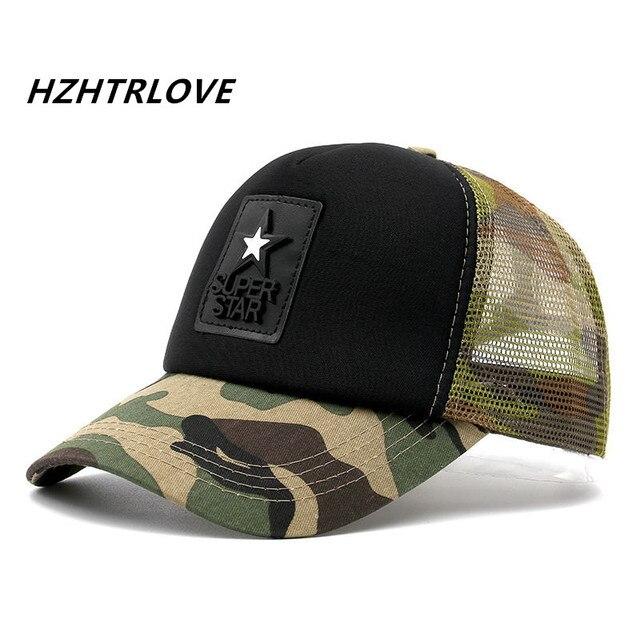 2b7609680a5 Breathable Super Star Camouflage Mesh Cap Baseball Cap Swag Snapback Desert  Hat For Men Women Cap