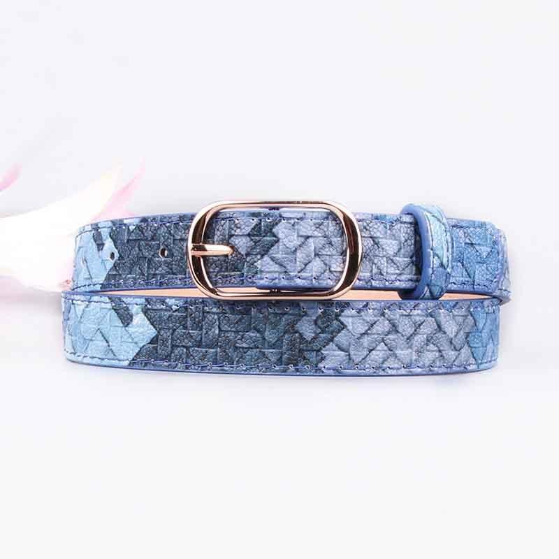 Women's belt imitation woven pattern fashion elegant ladies belt belt