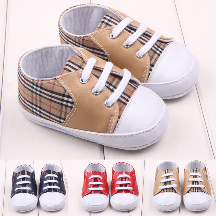 Autumn Lattice Front Chalaza Soft Bottom Baby Shoe Study Walking Shoes Baby Shoe 2167