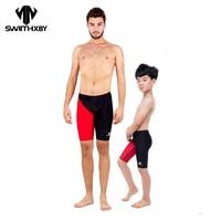 HXBY Competition Plus Size Swimwear Men Swimsuit Men's Swimming Trunks For Bathing Plavky Man Swim Wear Mens Swimming Shorts