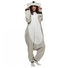 In Good Quality 2017 New Unisex Adult Soft Pajamas Anime Cosplay Costume Onesie Sleepwear Cute Koala Bear Hot Sale