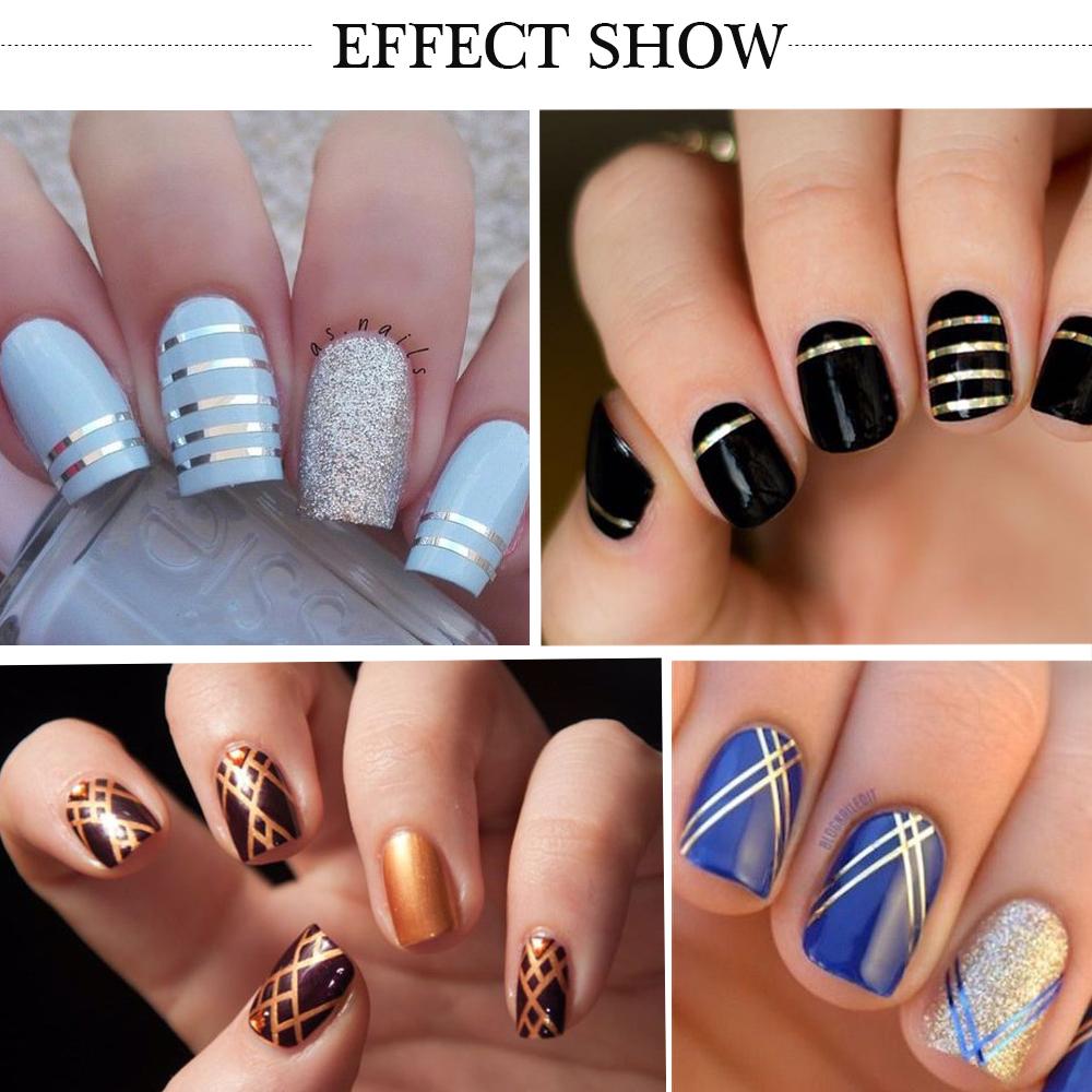 1pcs NEW Metallic Nail Art Tape Lace Line Strips Striping Decoration ...