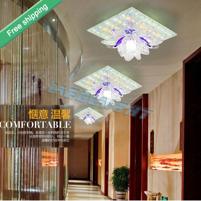 ФОТО New Lustres De Sala Free Shipping 5w Crystal Led Downlight Fixture Lighting Corridor Hallway Lights For Living Room Lamp &