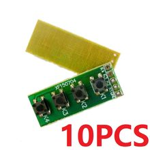 10PCS 2.54mm Pads 4 Button key Switch Keyboard Matrix Board for Arduino UNO MEGA2560 Raspberry pi MCU PCB PLC(China)