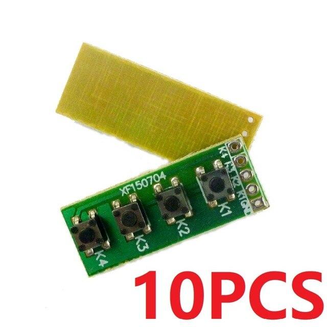 10PCS  2.54mm Pads 4 Button key Switch Keyboard Matrix Board for Arduino UNO MEGA2560 Raspberry pi MCU PCB PLC