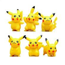 Hot Sale Mini Pikachu Figures 6Pcs/lot 4cm PVC Action Figure Toys Cartoon Model Figurine Free Shipping