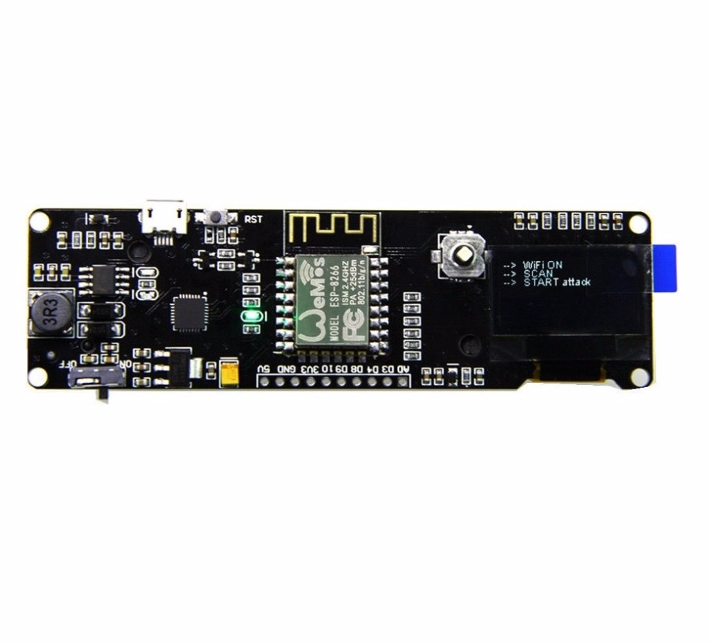 0,96 Zoll Oled-display 18650 Schild Cp2102 Esp8266 Esp-12f Preflashed Wifi Development Board Für Wemos Joystick Micro Usb Zu Ttl Kaufen Sie Immer Gut