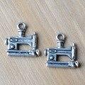 APURAMENTO, charme pingente, acabamento prata antigo liga encantos para colar de pingente de máquina de costura, brinco e pulseira de jóias