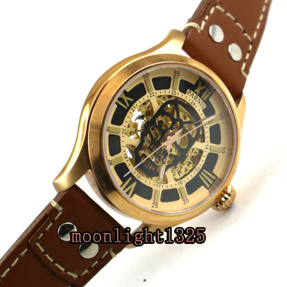 45mm Parnis hollow dial sapphire glass miyota mens watches automatic mechanical Men's Watch 42mm parnis withe dial sapphire glass miyota 9100 automatic mens watch 666b