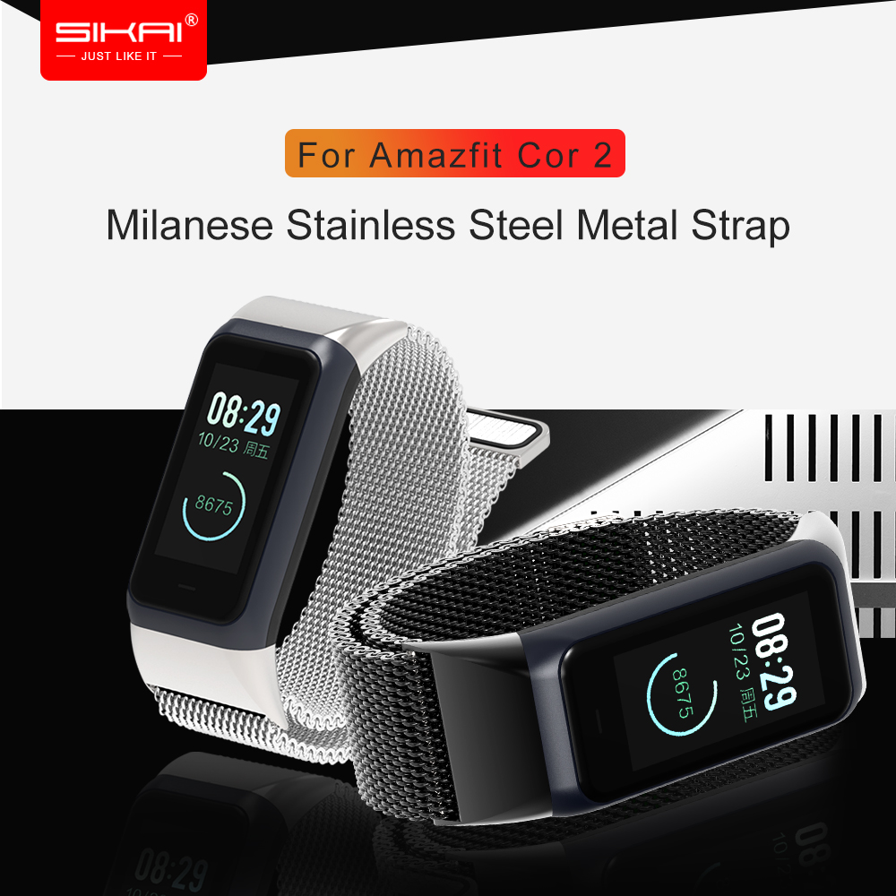 SIKAI Millanses Watch Strap For <font><b>Huami</b></font> <font><b>Amazfit</b></font> <font><b>Cor</b></font> <font><b>2</b></font> Watch High-quality Band For <font><b>Amazfit</b></font> <font><b>Cor</b></font> <font><b>2</b></font> Easy Install Watchband For <font><b>Amazfit</b></font> image