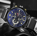 2016 Nova Marca de Luxo Homens de Aço Cheio Relógios de Quartzo dos homens 24 Hora Data Relógio Militar Esportes Relógio de Pulso Relogio Masculino Masculino