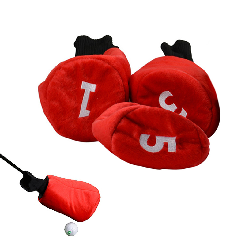 3pcs/set Golf Wood Head Cover Golf Club Driver Headcover Fairway Golf Putter Headcover Drop Shipping Fast Delivery