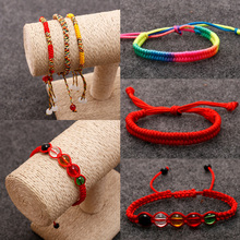 Sale 1PC New Unisex Simple Adjustable DIY Handmade Knots Lucky Bracelet Women Men Chic Rope Weaving Fashion Bangle