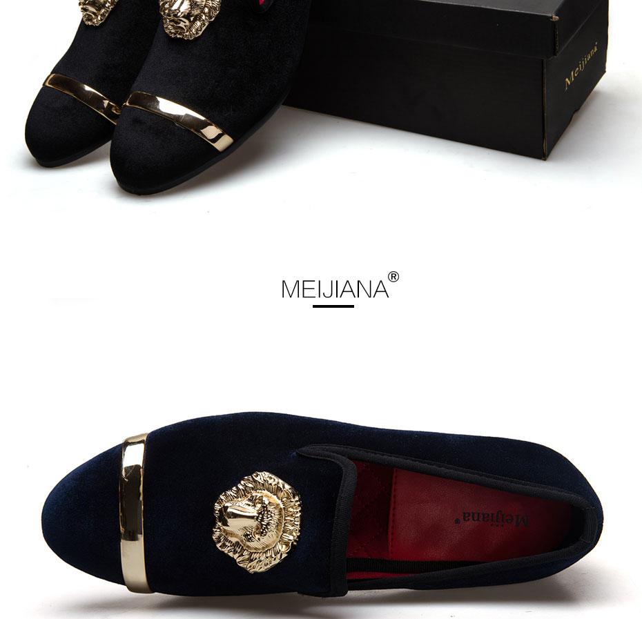 HTB1y6xgauALL1JjSZFjq6ysqXXaB - New Fashion Gold Top and Metal Toe Men Velvet Dress shoes italian mens dress shoes Handmade Loafers