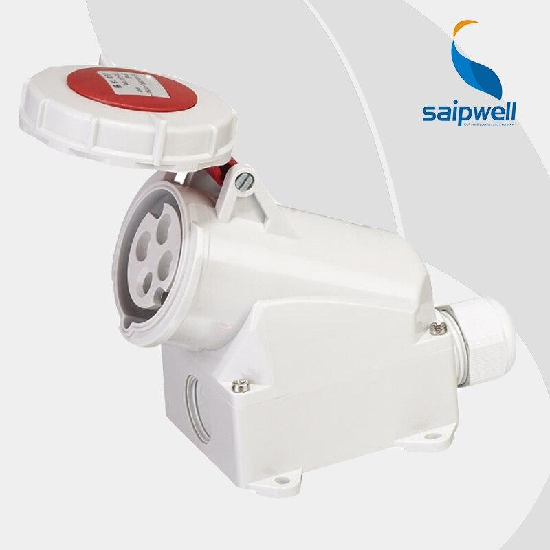 16A 400V 4P (3P+E) industrial power socket waterproof outlets wall mounted Water/Splash Proof IP44 EN / IEC 60309 2 type SP1196