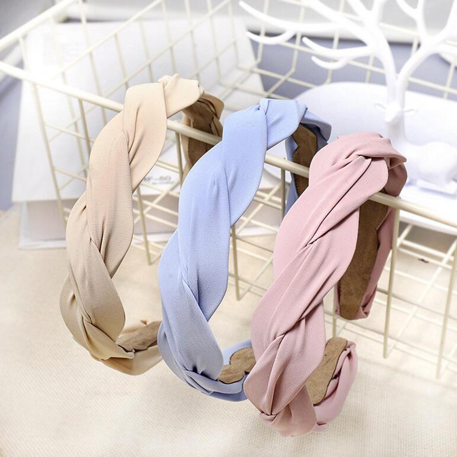 New Fashion Women Headband Solid Cloth Multi-layer Cross Knot Hairband Summer Autumn Hair Accessories Adult