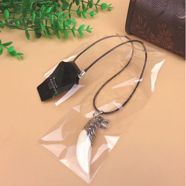 Punk Brave Boy Man Wolf Tooth Necklace Titanium Steel Domineering Pendant Gifts Chain