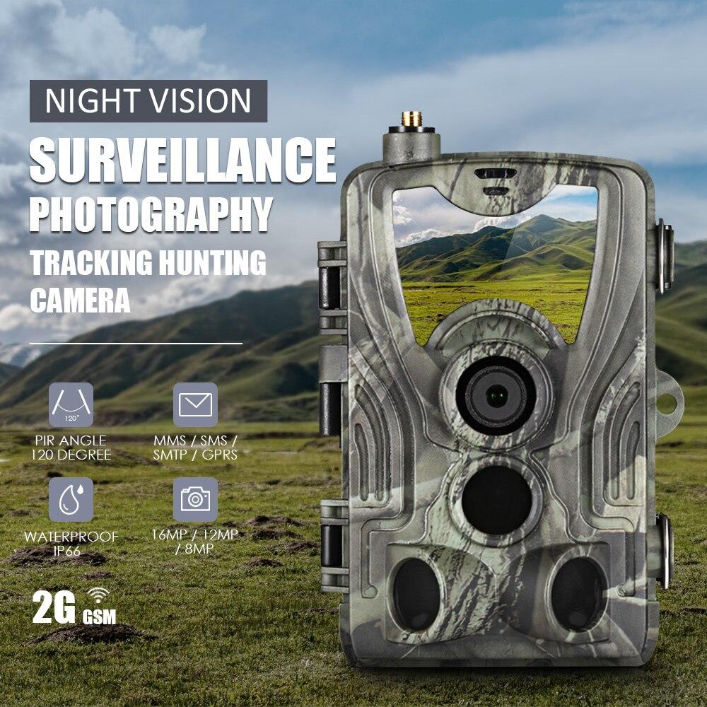 Trail Camera Surveillance-Photo-Traps Night-Vision GSM MMS Infrared SMTP HC-801M 1080P