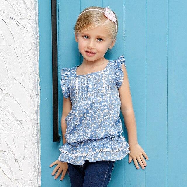 candydoll 2016 summer children's clothing children's shirt skirts girls floral shirt Europe T-shirt factory outlets