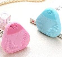 Ny Mini Electric Ansigtsrensning Massagebørste Vaskemaskine Vandtæt Silikone Facial Cleansing Devices Værktøj USB Charge