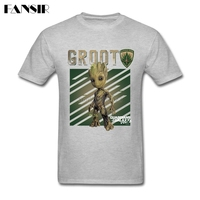 Great Movie Groot Guardians Of The Galaxy T Shirt Men Short Sleeve O Neck Men T