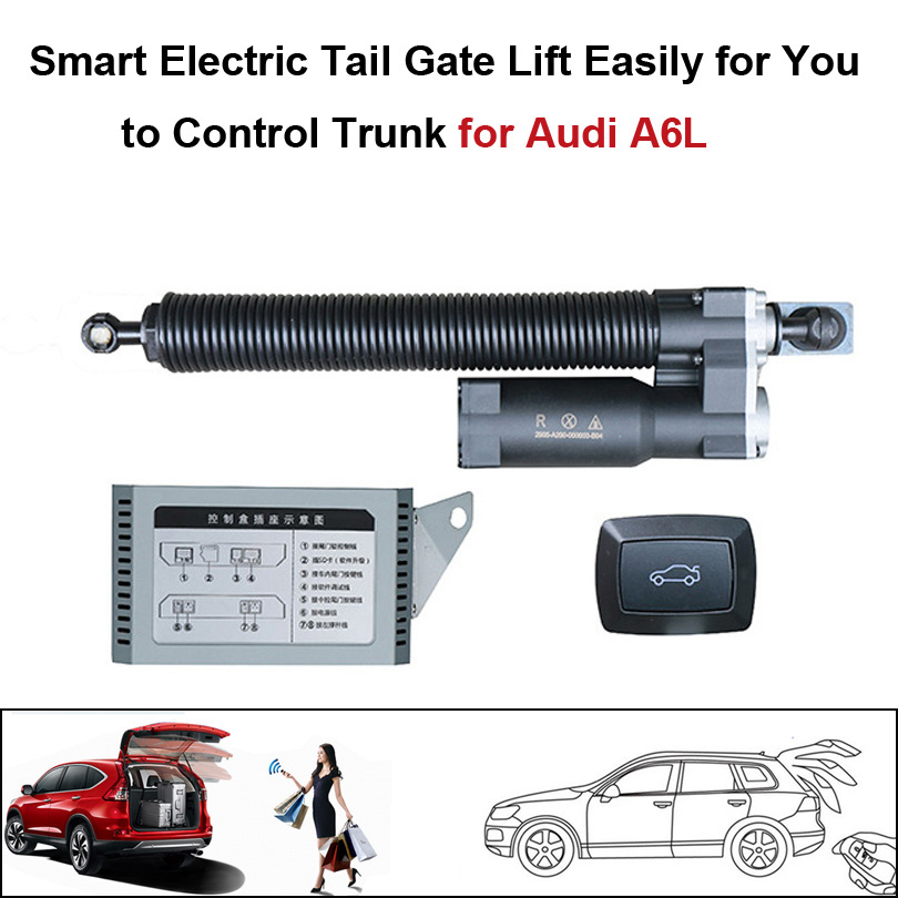 Smart Auto Electric Tail Gate Lift For Audi A6L Control By Remote Drive Seat Tail Gate Button Set Height Avoid Pinch