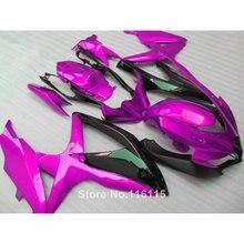 Комплект обтекателей для Suzuki K8 K9 GSXR 600 700 2008 2009 2010 мотоцикл GSXR600 GSXR750 08 09 10 черный фиолетовый обтекатели 62-66