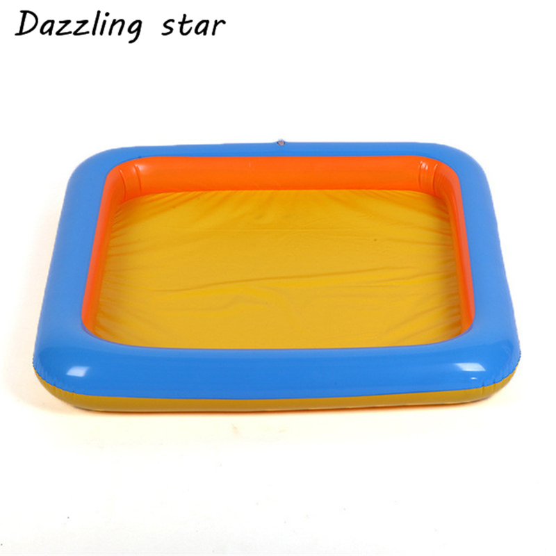 1pc Inflatable Sand Tray Sand Plastic Sand Box Play Child Kids Indoor Play Beach Sand Molding Clay Color Mud Toys JK1563