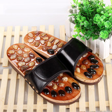 Natural Pebbles Foot Massage Slippers Pedicure Acupressure Points Therapy Shoe Comfort Feet Relaxation Tool