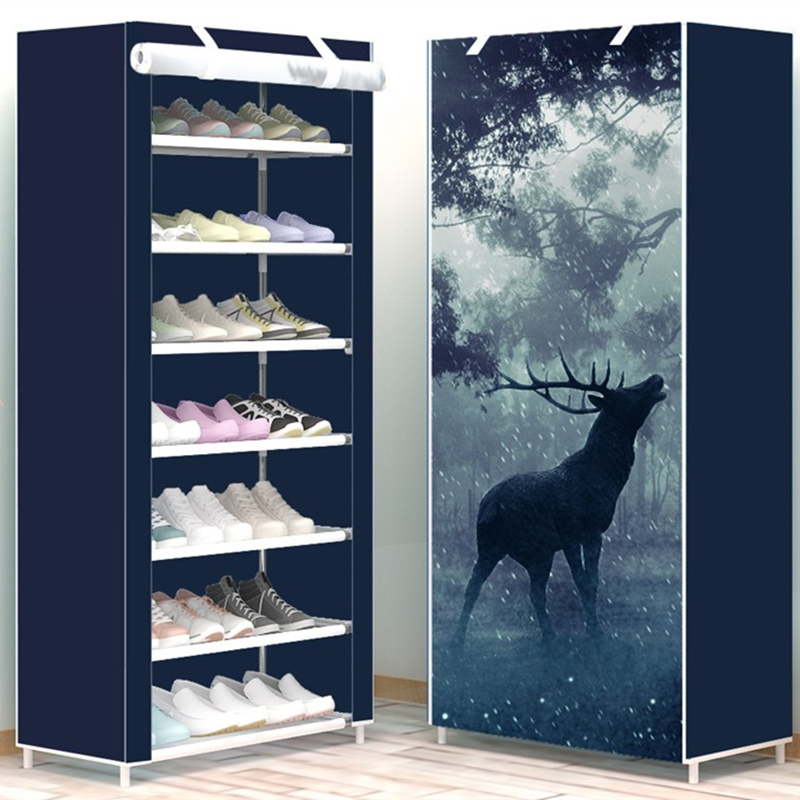 Modern Minimalist Shoe 8 Layer Non-woven Dust Creative Combination Cabinet Storage Rack Organizer Shoe Storage Home Furnitur