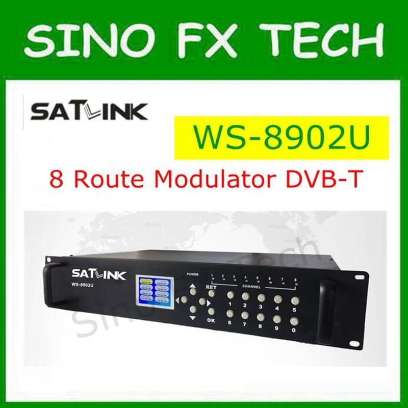 SATLINK WS-8902U DVB-T 8 Route modulator MPEG4 HD analogue A/V source to DVB-T channel SATLINK WS8902 цена 2017