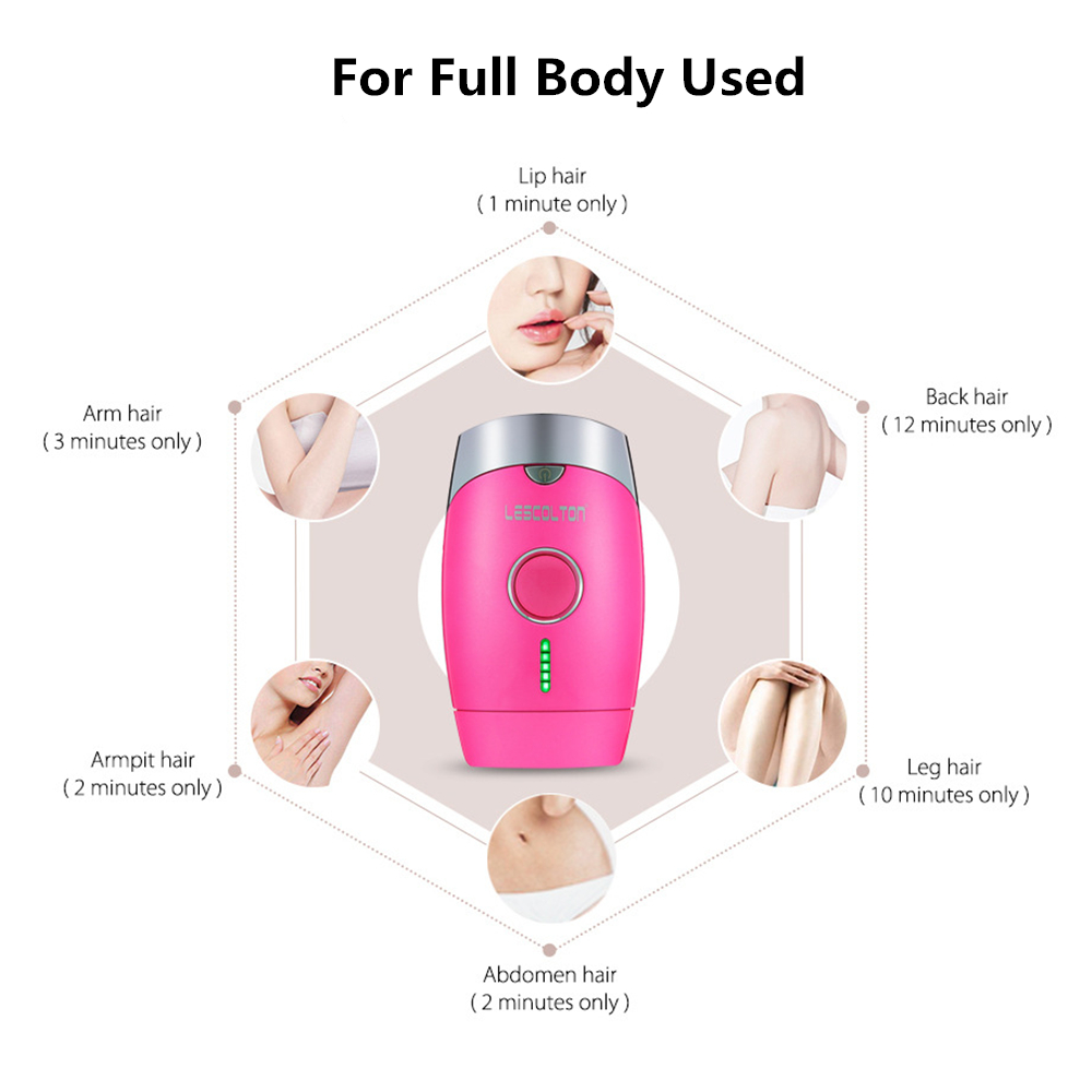 Laser Hair Remover IPL Depilador Permanent Hair Removal Machine Facial Body Armpit Underarm Bikini Leg Laser Epilator painless