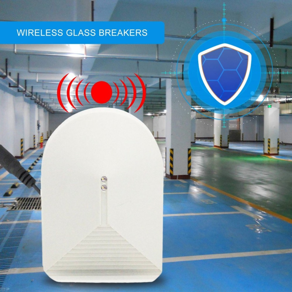 цена Sensitivity Wireless Glass Break Sensor Detector 315MHz For PSTN GSM Home Security Alarm System High Sensitivity Alarm Detector