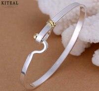 fashion jewelry 925 stamp silver plated bangle fine fashion bracelet bangle top quality wholesale and retail SMTB073