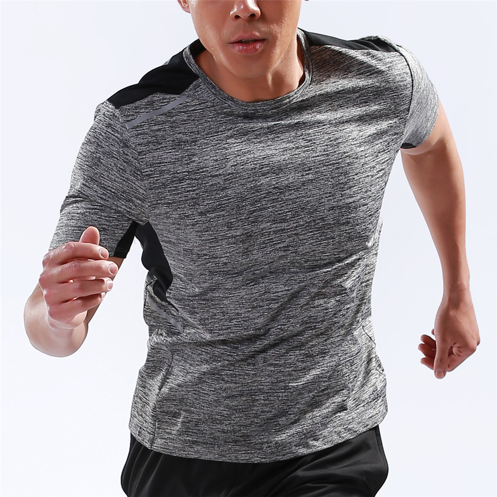 WOSAWE Running Shirt Men Sports Running Shirt Quick Dry Basketball Soccer Training T Shirt Men Gym Clothing Sportswear