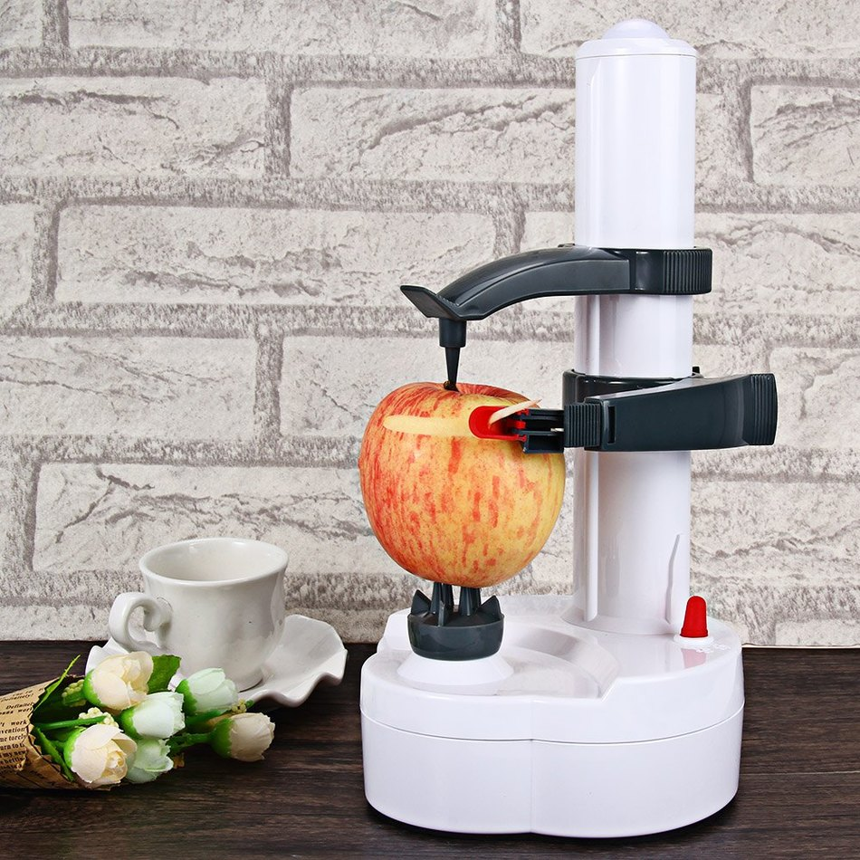 Hot Stainless Steel Electric Peeler Vegetables Fruit Apple Peeler Peeling Automatic Slicer Cutter Machine With Two Spare Blades