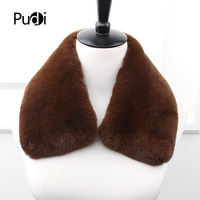 Pudi SF873 men real rabbit fur scarf 2018 new long natural genuine rabbit fur scarves shawl rings