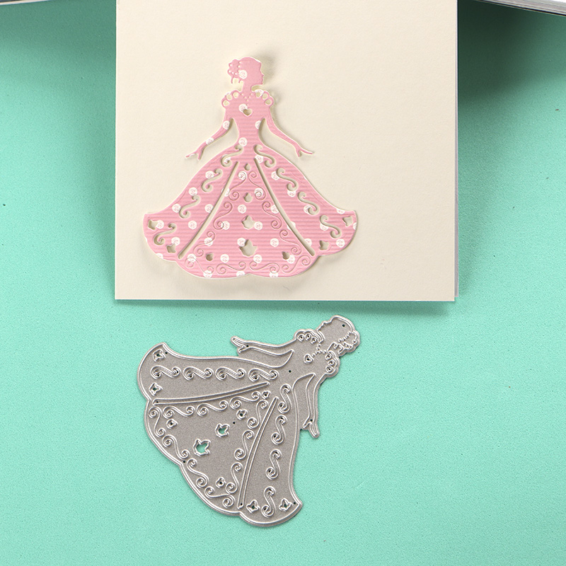 DUOFEN METAL CUTTING DIES 040009 bride wedding stencil for DIY papercraft  projects Scrapbook Paper Album greeting cards-in Cutting Dies from Home &