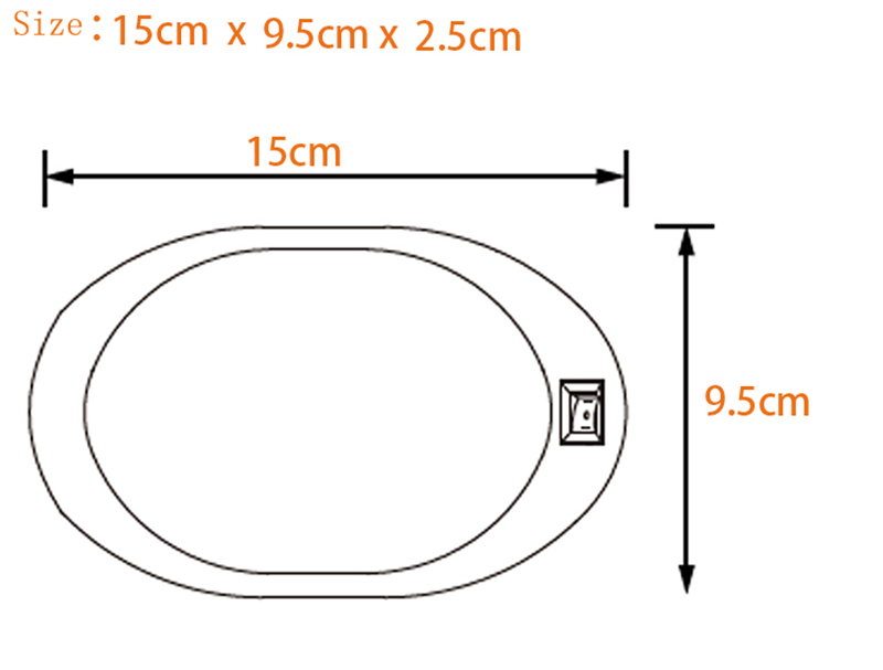 Image 3 - 12V Caravan Light LED Motorhome Caravan Interior Lamp White Oval RV Lights Motor Home Accessories-in RV Parts & Accessories from Automobiles & Motorcycles
