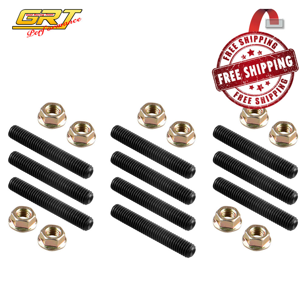Automobiles & Motorcycles Intake Manifold Free Delivery Extended Stud Intake Manifold Bolt Kit Stainless Steel Bolt Kit Set Kit Tool Rapid Heat Dissipation