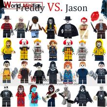 Single Horror Freddy Jason Zombie Building Blocks Halloween Gifts Movie figurines Christmas Toys For Children Legoingly(China)