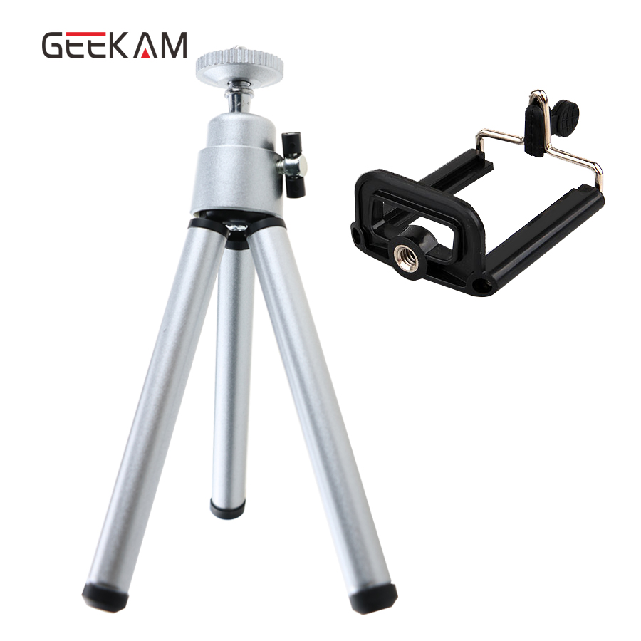 Mini Tripod Stand For iphone 6s 7 Samsung Xiaomi With Phone Clip Tripod Stand Mount Nikon