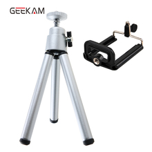 Mini Tripod Stand For iphone 6s 7 Samsung Xiaomi With Phone Clip Tripod Stand Mount Nikon for Gopro 5 4 Session Yi Action Camera