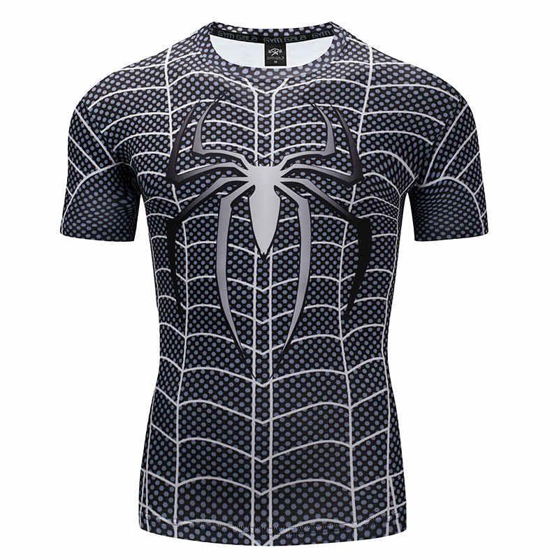 Camiseta deportiva de alta gama de manga corta de la serie Spider-Man de verano